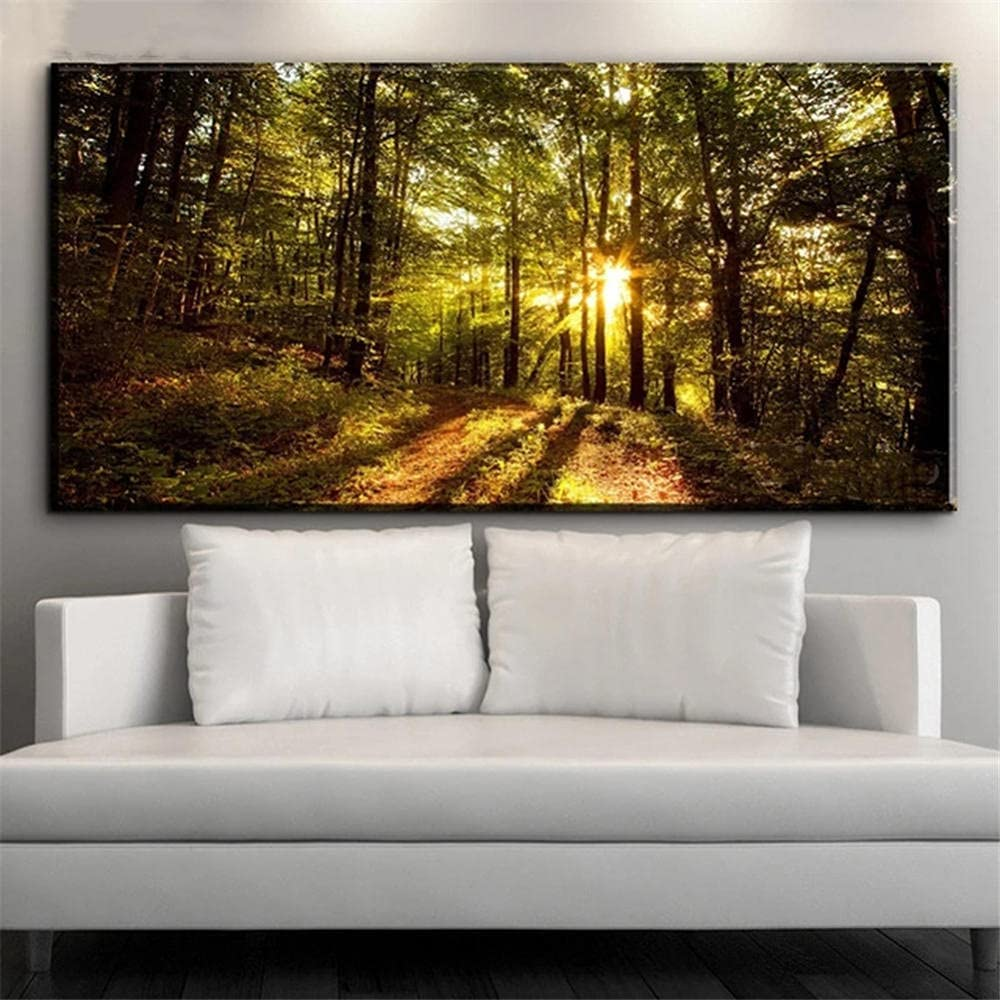 DIY 5D Diamond Manufacturer direct delivery Painting by Sunrise Number Landscape Omaha Mall Kits Forest
