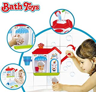 Happytime Ice Creams Bubble Bathtub Toy Bathroom Foam Cone Factory Making Ice Creams Bubble Machine Bathtub Water Toys for Baby (No Batteries Required)