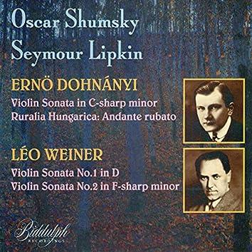 Dohnányi & Weiner: Violin Sonatas