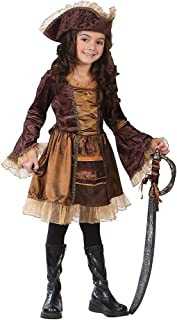 Sassy Victorian Pirate Child Costume - Small