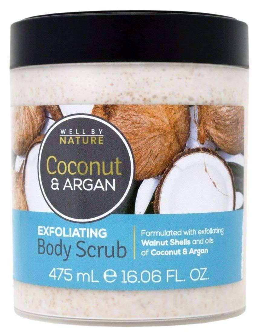 WELL by NATURE. Coconut Sale item Fresno Mall Argan 16.06 exfoliating Scrub. fl Body