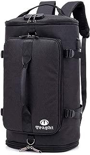 TRAGHT スポーツバッグ ボストンバック ジムバック リュック 4way リュック型可能 大容量 USB充電ポート 盗難防止 軽量 旅行出張も適用 多機能 男女兼用 錠 シューズ収納部付き