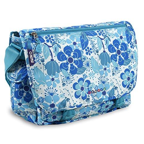 J World New York Terry Messenger Bag, Blue Vine, One Size