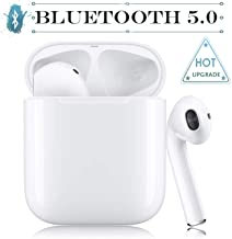 Wireless Earbuds Bluetooth 5.0 Headsets Bluetooth Headphones 3D Stereo IPX5 Waterproof【24Hrs Playtime】 Pop-ups Auto Pairing Headset Suitable for Apple/Airpods/Android/iPhone/Samsung