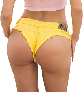 WanYangg Donna Sfilacciati Denim Pantaloncini Corti Estate Shorts Ultrashort Perizoma Vita Bassa Mini Jeans Spiaggia Night...