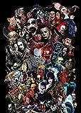 TLMYDD 1000 Piezas De Rompecabezas para Adultos-Halloween Halloween Personaje De Cine Jigsaw Puzzles-Puzzles Brain Challenge Puzzle para Niños-Imposible Rompecabezas Día de San Valentín Presente