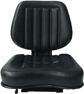 TABODD Asiento universal para carretilla de tenedor con respaldo trapezoidal, cortacésped de jardín, asiento trasero con carril deslizante ajustable para excavadoras, carretillas elevadoras, tractores