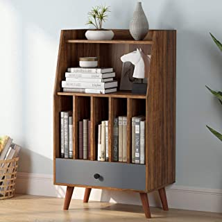Tribesigns File Cabinet, Printer Stand with Storage Bookcase Bookshelves with Drawers, Display Shelf Storage Unit for Home Office Decor,
