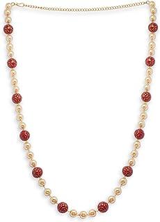 Accessher Indo Western Pearl Waist Chain Kamarband for Women