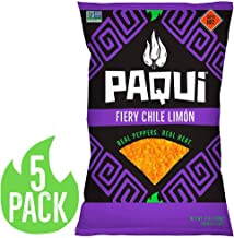 Paqui Spicy Hot Tortilla Chips, Gluten Free Snacks, Chile Limon, (5) 7oz Bags