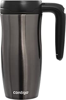 Contigo AUTOSEAL Randolph Vacuum-Insulated Handled Travel Mug, 16 oz, Gunmetal