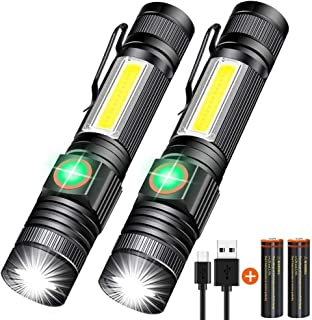 Rechargeable Flashlight, Magnetic Flashlight Super Bright LED, Tactical Flashlight Pocket-size with Clip, High Lumen, Wate...