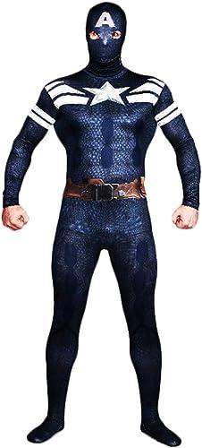 60% de descuento QQWE Traje de Cosplay del Nuevo Capitán América Traje de de de Disfraces de súper héroe Disfraces de Halloween de Navidad Traje Traje Mono Spandex,A-M  Entrega directa y rápida de fábrica