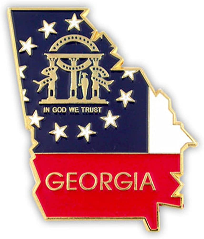 PinMart State Shape of Georgia and Lapel 4