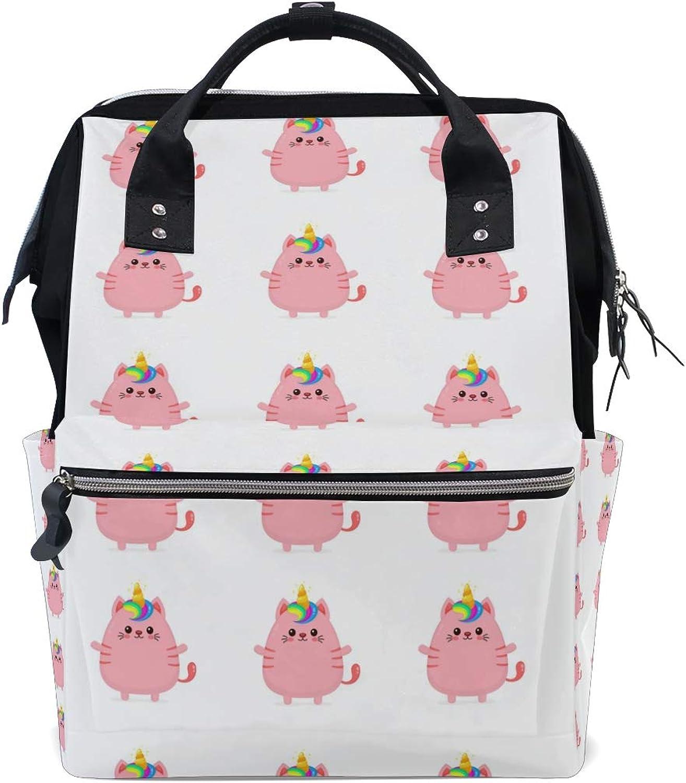 Russe Stylish Unicorn Cat Backpack Leisure Travel School Backpack