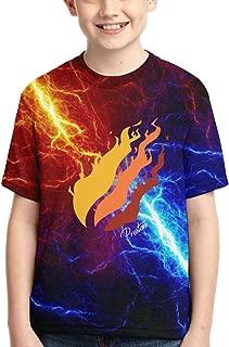 DLZZ Boys' Preston Fire Nation Playz Gamer Flame 3D Print Tie Dye T-Shirt Tees