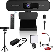 2K Zoomable Webcam Kits, AutoFocus, Support 1080P@ 60FPS, 3X Digital Zoom, Remote Control, Tripod Stand, USB Microphone, 4...