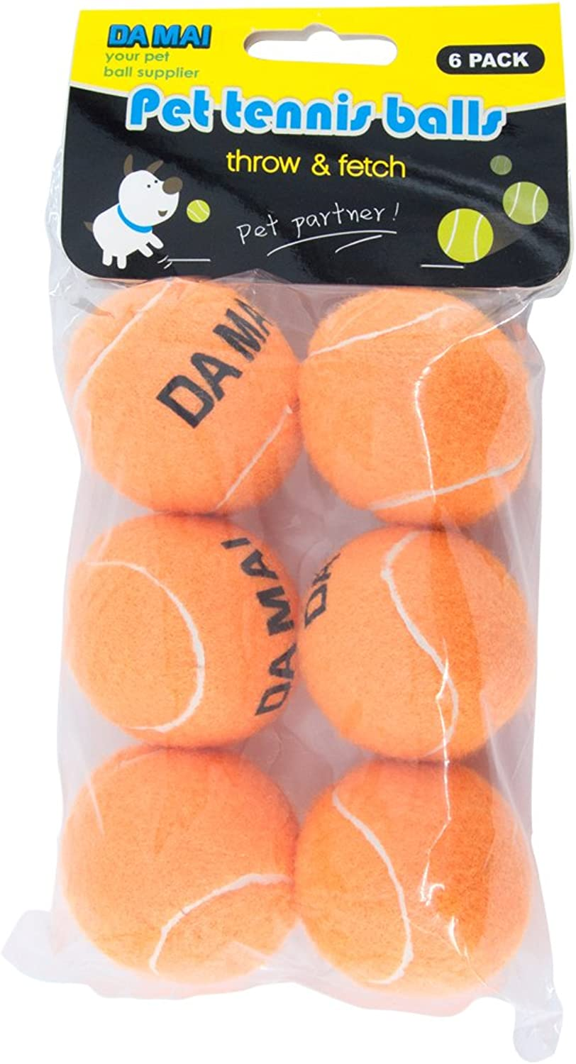 Da Mai 2.5inch orange Tennis Ball for Sports and Pet Toys Dogs Outdoor Sports Cricket (2.5 )