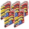 AZDelivery 5 x CNC Shield V3 Development Board for A4988 Stepper Motor Driver compatible with Arduino, 3D Printer including E-Book!
