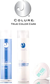 Colure True Color Care Richly Moisturize Shampoo & Conditioner DUO Set (with Sleek Compact Mirror) (10.1 oz / 300ml Kit)