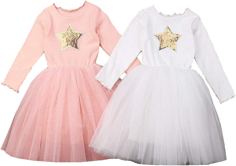 Amazon.com: Toddler Girls Long Sleeve Tulle Tutu Dress Kids Baby