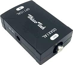 Whizzotech Toslink Coaxial to Optical Digital Audio Converter 24bit/192K HD Sampling