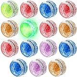 15 Pieces LED Light Responsive Ball Bearing Plastic Responsive Toys...