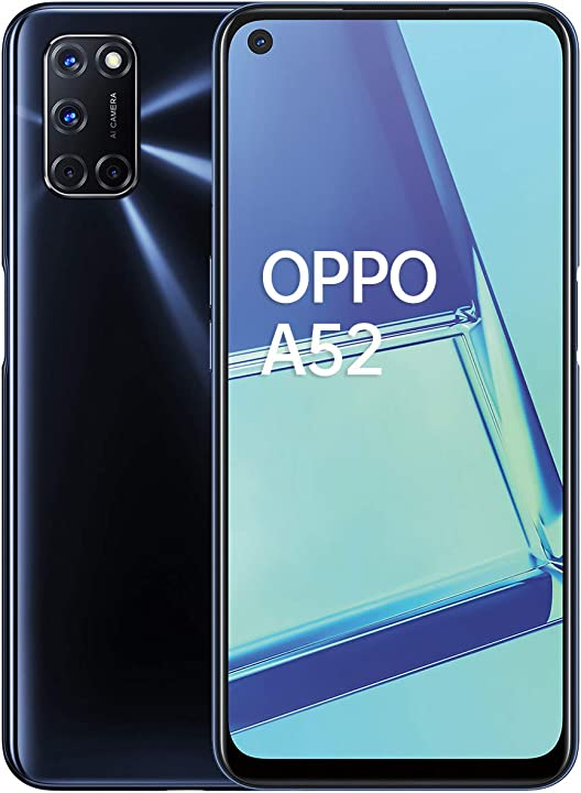 """Smartphone,display 6.5"""" full hd e refresh rate 90hz,4 fotocamere posteriori,ram 4gb 64gb espandibile oppo a52 5977489"""
