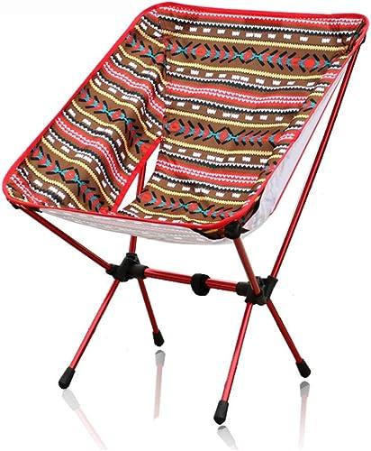 Alliage D'aluminium Ultra-léger Chaise Camping Chaise Pliante Adaptée La Pêche sur La Plage 50  58  66 Cm (Couleur De La Fleur Nationale) (Taille   2 Packs)