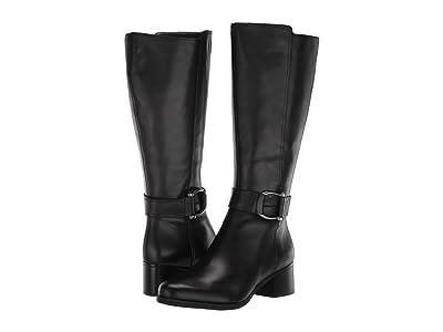 Naturalizer Daelynn Wide Calf (Black Leather) Women