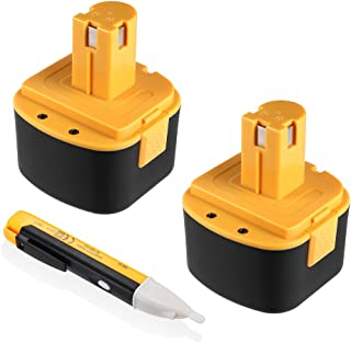 Powerextra 2 Pack Lincoln 12V 3000mAh Replacement Battery Compatible with LIN-1244 LIN-1242 LIN-1201(with a free voltage tester pen)