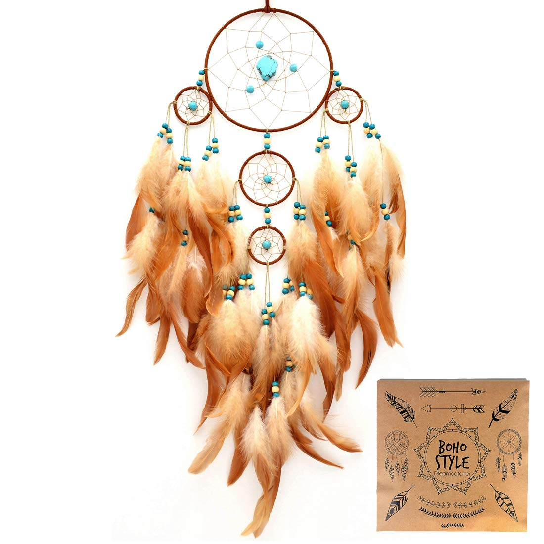 Littlear Dream Catcher Handmade Tree of Life Dream Catchers with Feathers No.11