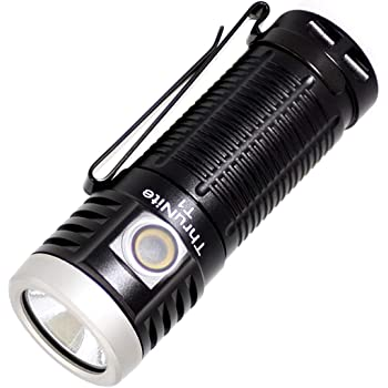ThruNite T1 Magnetic Tailcap Handheld Flashlights, USB Rechargeable EDC Flashlight, Stepless Dimming 1500 lumens Pocket Flashlight, CREE XHP50, 1100mAh Battery Included - CW