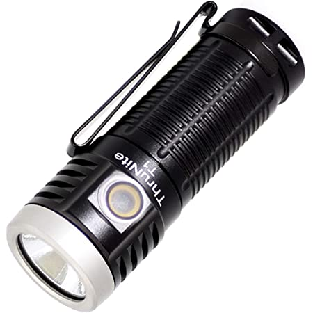 ThruNite T1 Magnetic Tailcap Handheld Flashlights, USB Rechargeable EDC Flashlight, Stepless Dimming 1500 Lumen Pocket Flashlight, CREE XHP50, 1100mAh Battery Included - CW