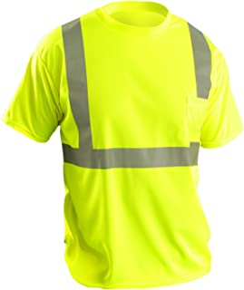 OccuNomix LUX-SSETP2B-Y2X Classic Standard Short Sleeve Wicking Birdseye T-Shirt, Class 2, 100% ANSI Wicking Polyester Birdseye, 2X-Large, Yellow (High Visibility)