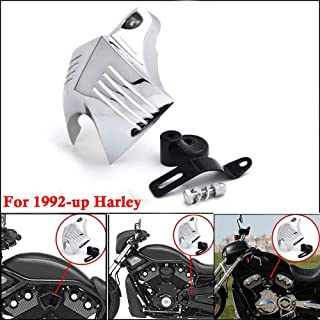 Motocicleta bocinas protectora cromo Cuerno Cover para 1992–2014Harley Davidson V Twin Cam Style