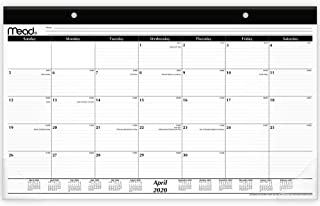 """Mead 2020-2021 Academic Year Monthly Desk Pad Calendar, Compact, 17-3/4"""" x 11 (CAM8200521)"""