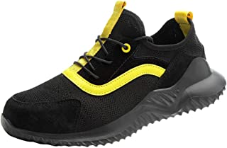 Haforever Men's Men Safety Work Shoes Lightweight Mesh Industrial Construction Sneakers Composite Toe Shoes for Summer Outdoor
