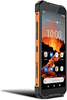 HAMMER EXPLORER PRO 5,7' IPS Outdoor Handy, Militärstandard Smartphone, Mega Akku 5000mAh, 48MP Kamera, eSIM, NFC, Wasserdicht/Stoßfest, LTE 4G, IP69, Dual SIM, Android 10   Orange