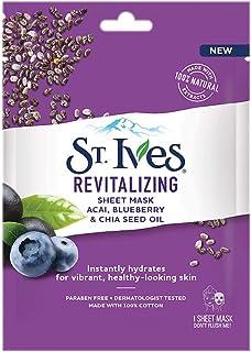 St. Ives Revitalizing Açai, Blueberry & Chia Seed Oil Sheet Mask 1 nos