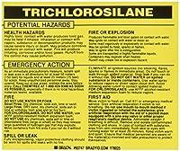 Brady 93747 Vinyl Hazardous Material Label Black On Yellow 3 3/4 Height x 4 1/2 Width Legend Trichlorosilane (25 Labels per Package) [並行輸入品]