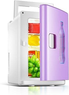 JCOCO Mini Fridge 10L Mute Reefer Cooler Box (Home Office And Car Use) (color : Purple)