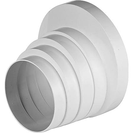 Conector reductor de tubo de diámetro 3 4 5 6 pulgadas, tubo redondo de ventilación ventilador, diámetro universal