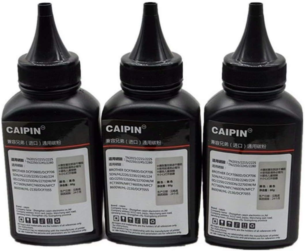 700 720 730 760 2030 2040 2070N 2075N 2120 2125 2170 2130 2132 1030 Imported Toner Power Laser Printer 80g//Bottle,2 Pack 80g Original Black Refill Laser Printer Toner Powder Kit for Brother HL