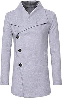 Chunmei Cappotto da Uomo Caloroso Signori Elegante Blazer Invernale Trincea Cappotti Invernale Giacche Lunghe Casual Slim ...