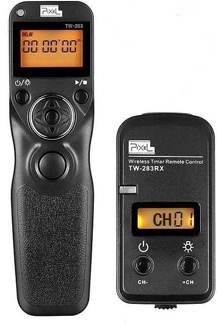 Pixel 2.4GHz TW283-S2 Mando a Distancia Digitales con Temporizador Inalámbrico para Sony A58 A7 A7II A7R A7RII A7S A3000 A5000 A5100 A6000 NEX-3NL RX100II DSC-RX1001V HX300 HX400 HX400V HX50V HX90V