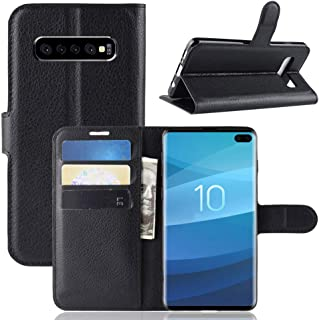 Galaxy S10 Plus Wallet Case, PU Leather Phone Case [Card Slot] [Flip] [Stand] Carry-All Case [TPU Interior Protective Case] [Magnetic Closure] for Galaxy S10 Plus, Black