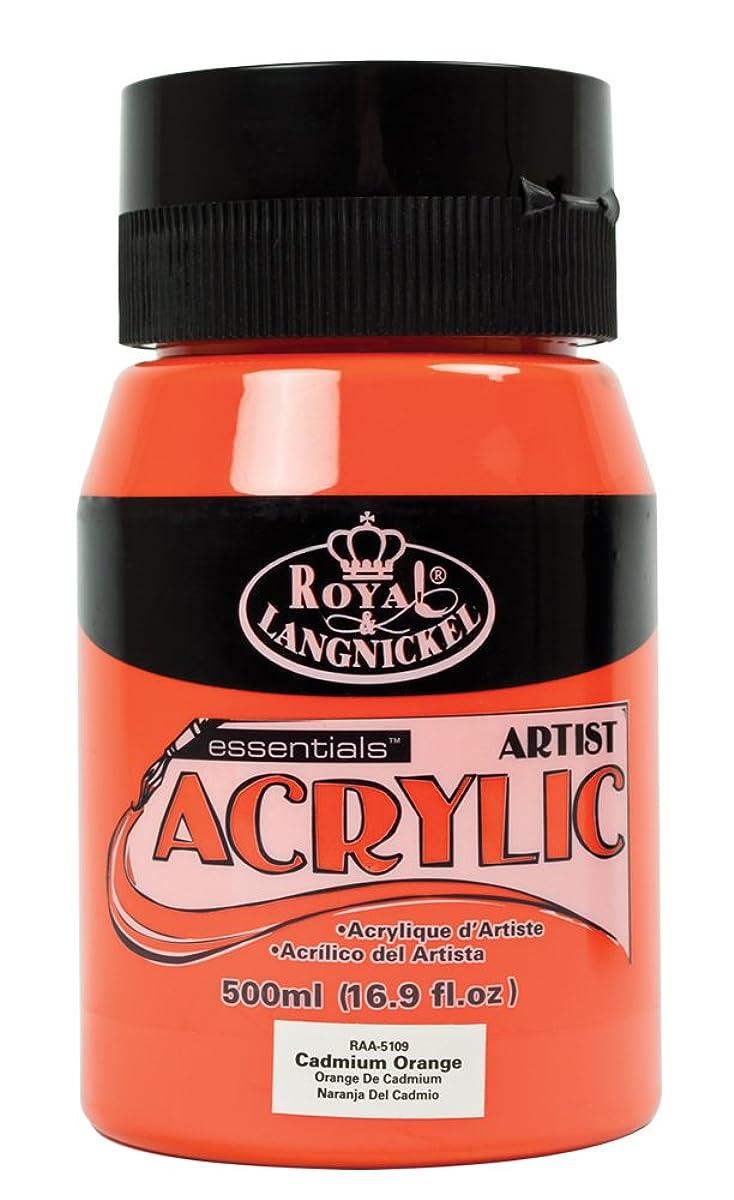 Royal & Langnickel Essentials Acrylic Jar Paint, 500ml, Cadmium Orange