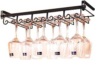 Yxsd Debajo del gabinete Wine Rack Holder Metal Armario Que cuelga el Soporte de la estantería del Estante del Vidrio de ...