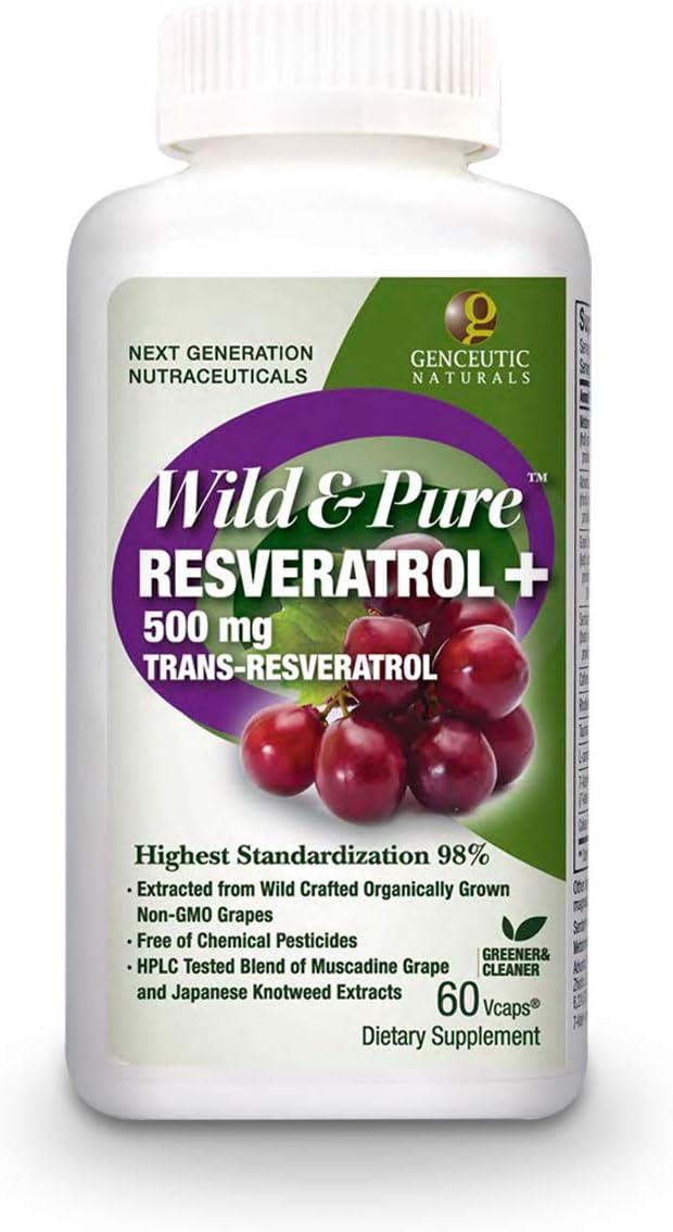 Overseas parallel import regular item Genceutic Naturals Purchase Wild Pure Capsules Vegetarian Resveratrol